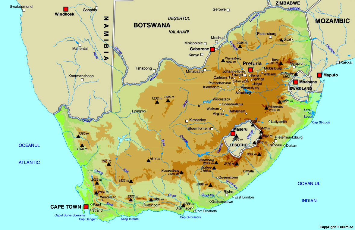 Of South Africa Maps Worl Atlas South Africa Map Online Maps - Where is south africa map world