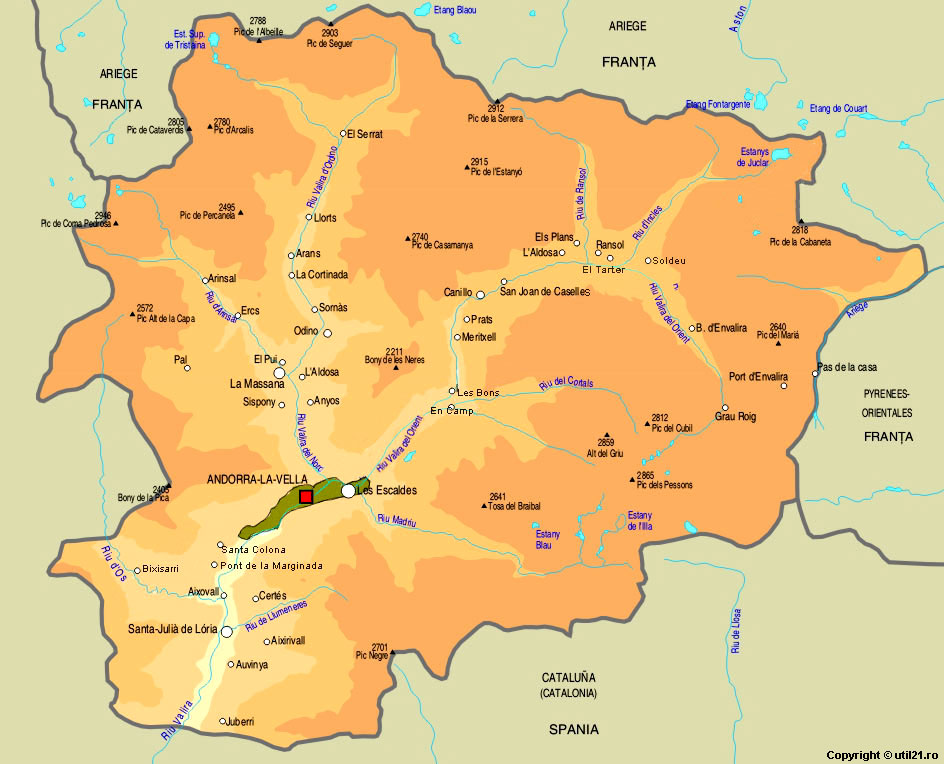 Map Of Andorra Maps Worl Atlas Andorra Map Online Maps Maps Of