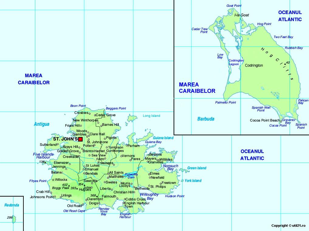 Map of Antigua and Barbuda, maps, worl atlas, Antigua and Barbuda ...