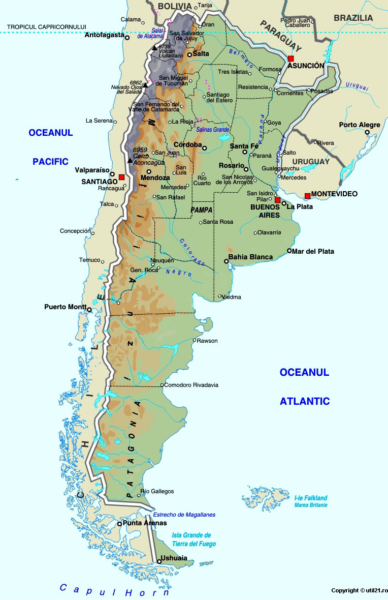 Map Of Argentina Maps Worl Atlas Argentina Map Online Maps - Argentina map cordoba