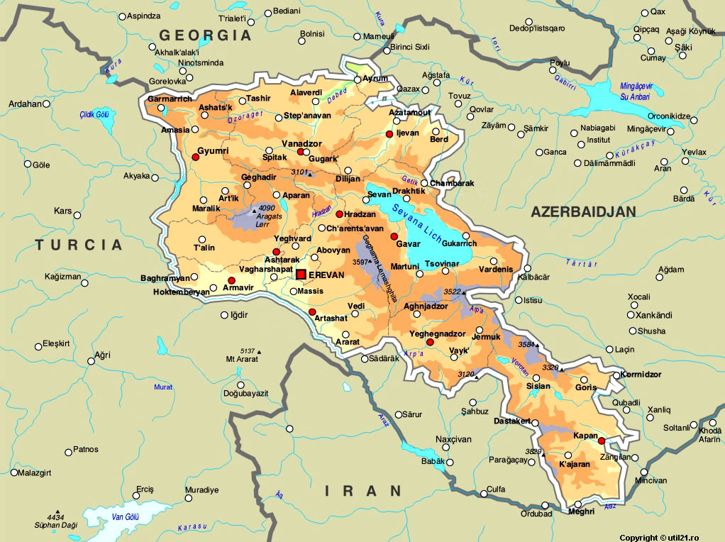 Map Of Armenia Maps Worl Atlas Armenia Map Online Maps Maps