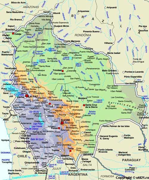 Of Bolivia Maps Worl Atlas Bolivia Map Online Maps Maps Of - Map of bolivia