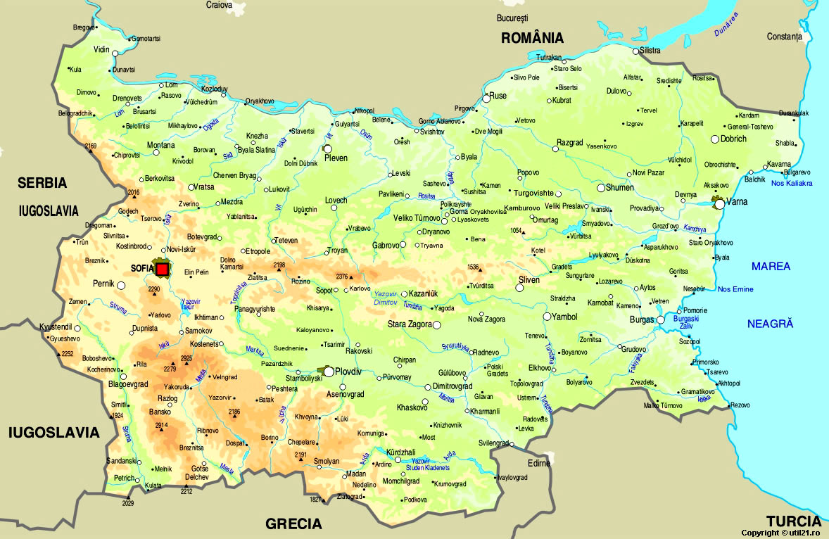 Map of Bulgaria maps worl atlas Bulgaria map online maps maps of the wor
