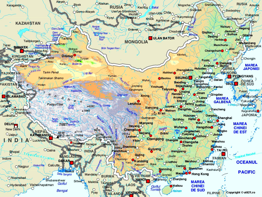 Map of China maps worl atlas China map online maps maps of the world co