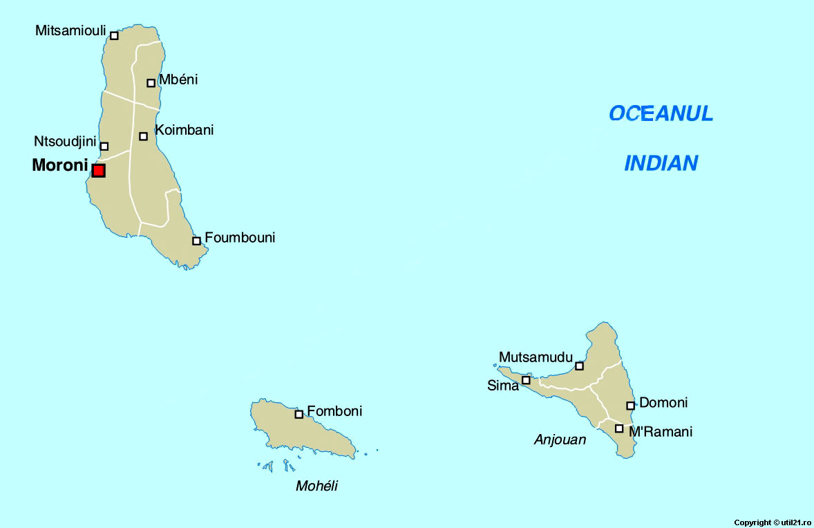 Maps Online Maps Map Of Comoros