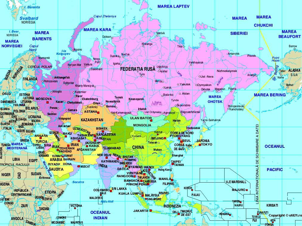 World Atlas Map Of Asia.Asia World Atlas Map