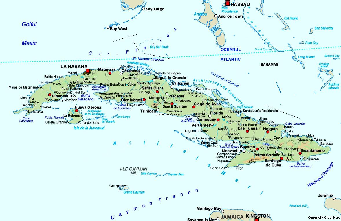 Map of Cuba, maps, worl atlas, Cuba map, online maps, maps of the ...