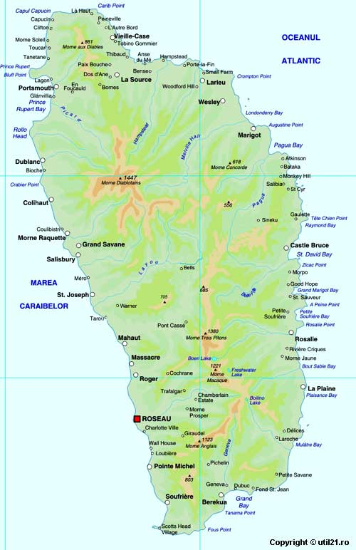 of Dominica maps worl atlas Dominica map online maps maps of