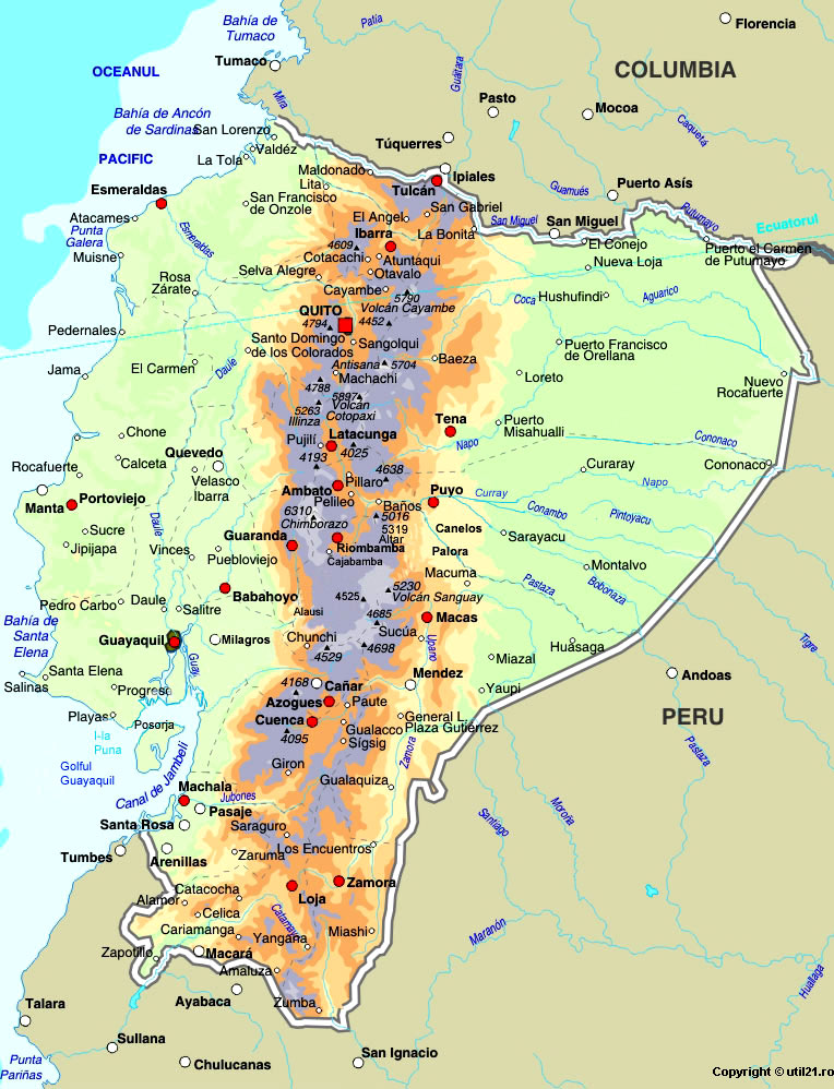 Map of Ecuador maps worl atlas Ecuador map online maps maps of the world