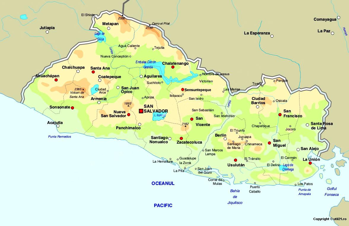 Map of el salvador maps worl atlas el salvador map online maps map of el salvador maps of the world gumiabroncs Gallery