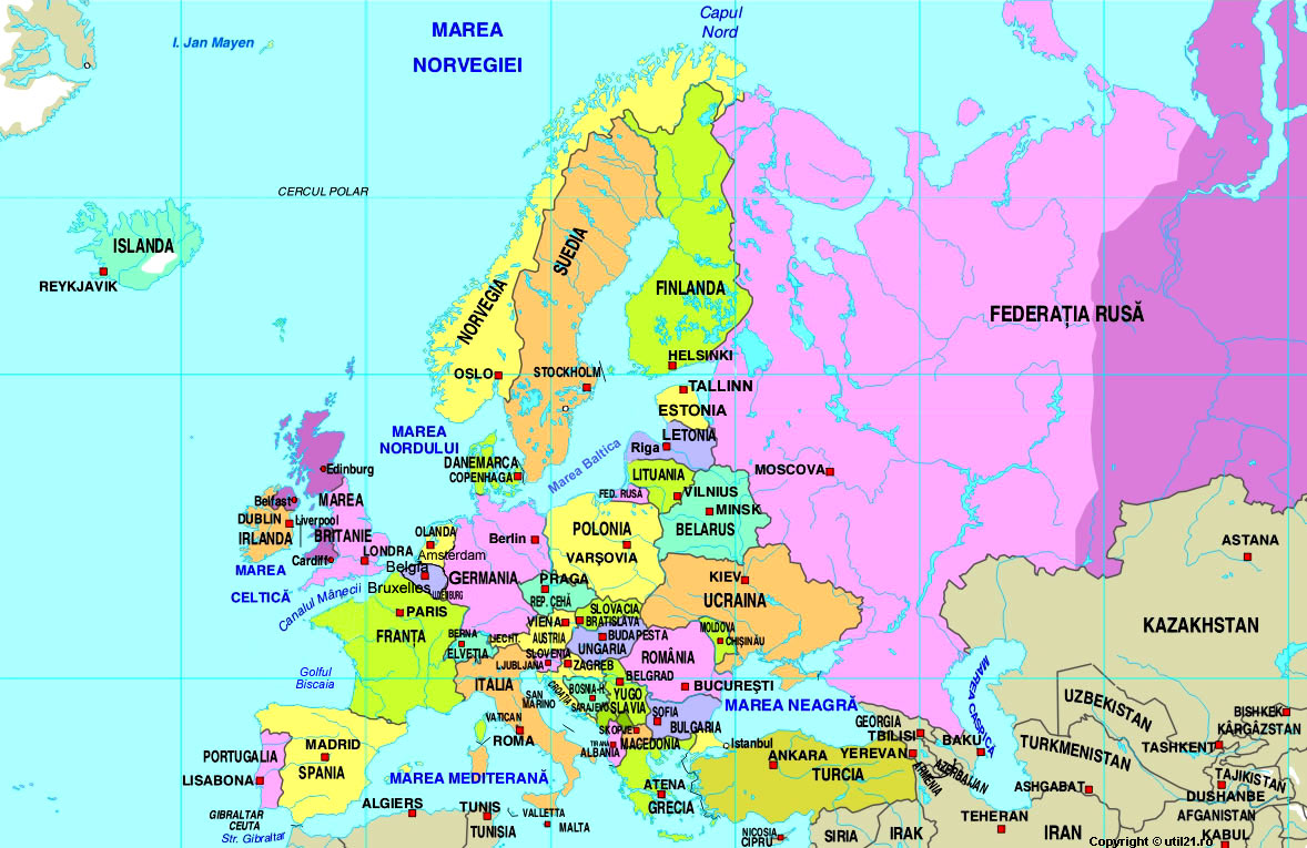 map of europe maps of the world