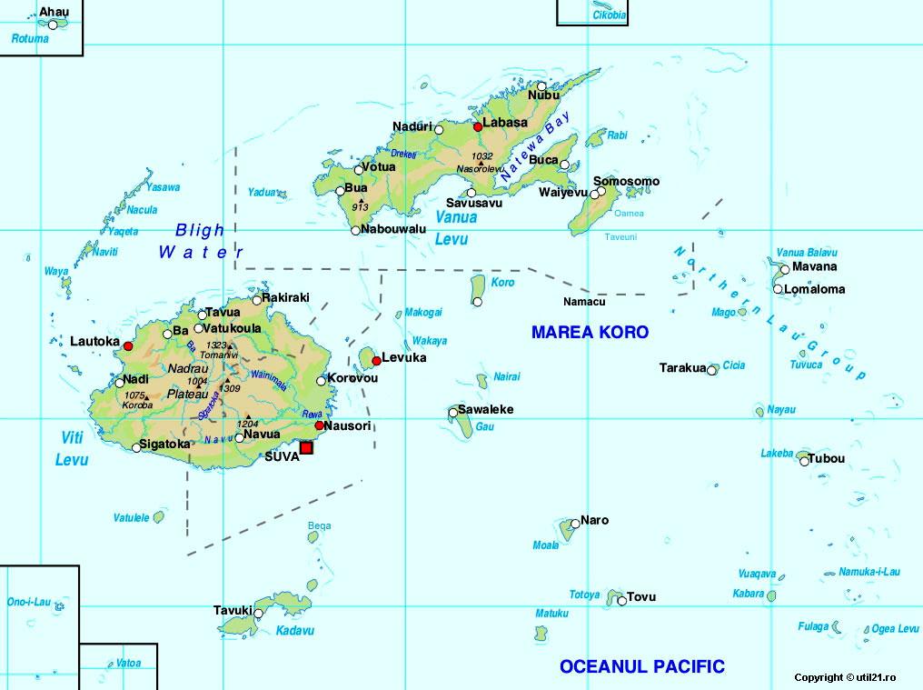 Map of Fiji maps worl atlas Fiji map online maps maps of the world coun