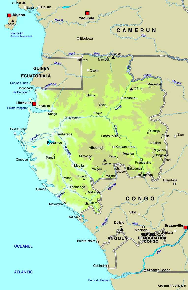 Map Of Gabon Maps Worl Atlas Gabon Map Online Maps Maps Of - Gabon map