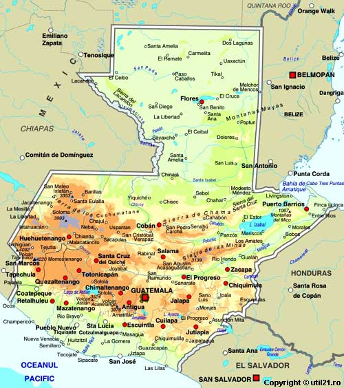 Map of Guatemala maps worl atlas Guatemala map online maps maps