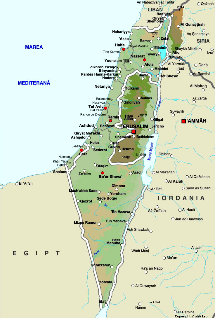 Israel On A Map Of The World.Map Of Israel Maps Worl Atlas Israel Map Online Maps Maps Of
