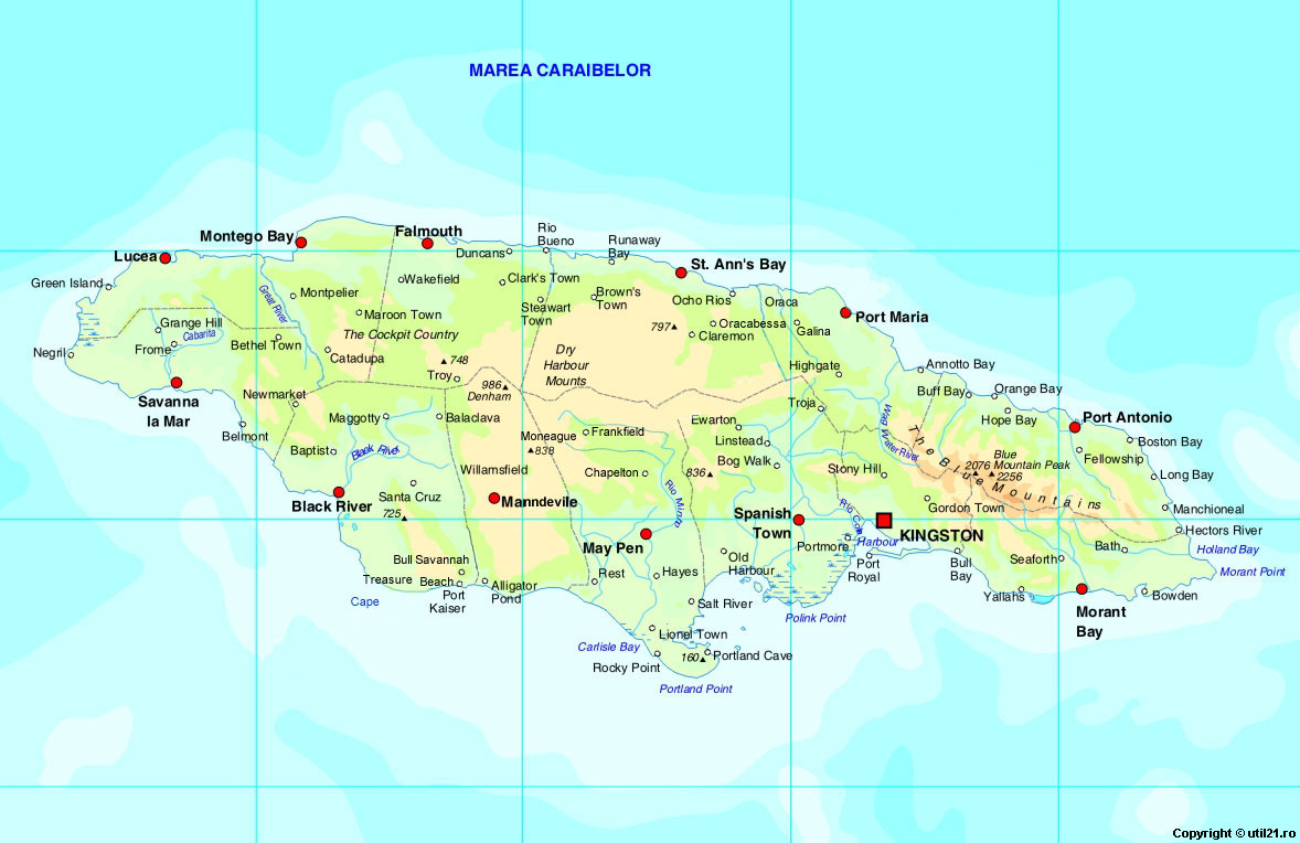 map of jamaica maps of the world