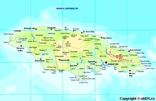 Map of Jamaica maps worl atlas Jamaica map online maps maps of the world