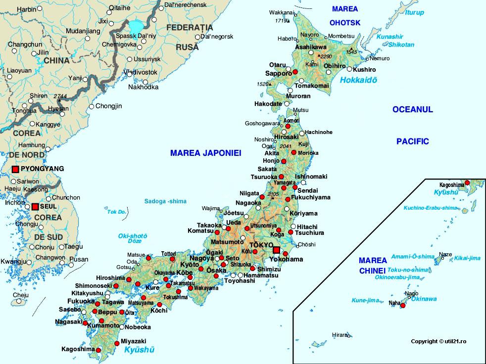 Map Of Japan Maps Worl Atlas Japan Map Online Maps