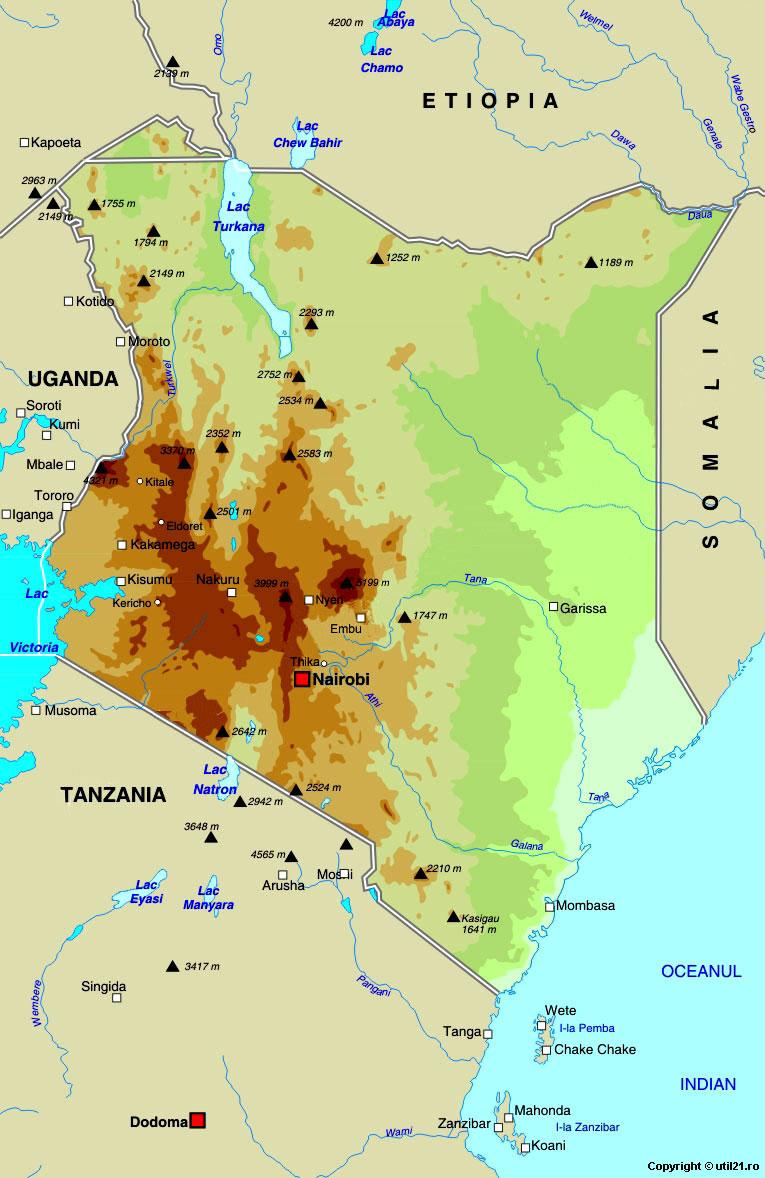 Map of Kenya, maps, worl atlas, Kenya map, online maps, maps of the ...