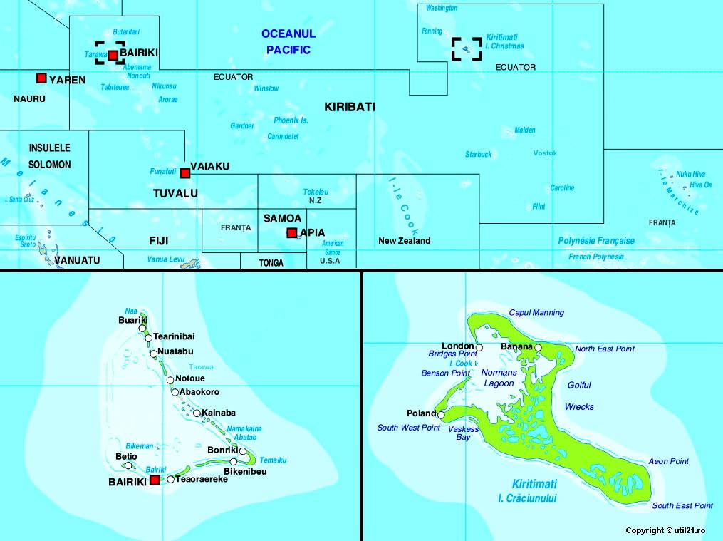 Map Of Kiribati Maps Worl Atlas Kiribati Map Online Maps Maps - Kiribati map