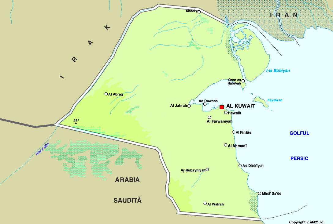 Map of Kuwait maps worl atlas Kuwait map online maps maps of