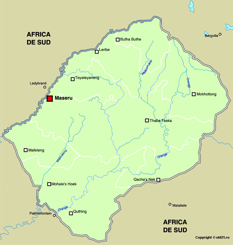 Lesotho Maps Online Map of Lesotho Maps of The