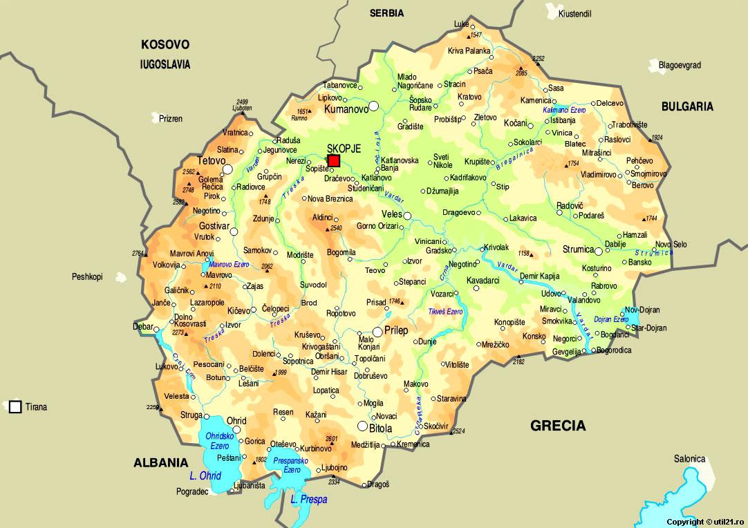 of Macedonia maps worl atlas Macedonia map online maps maps of