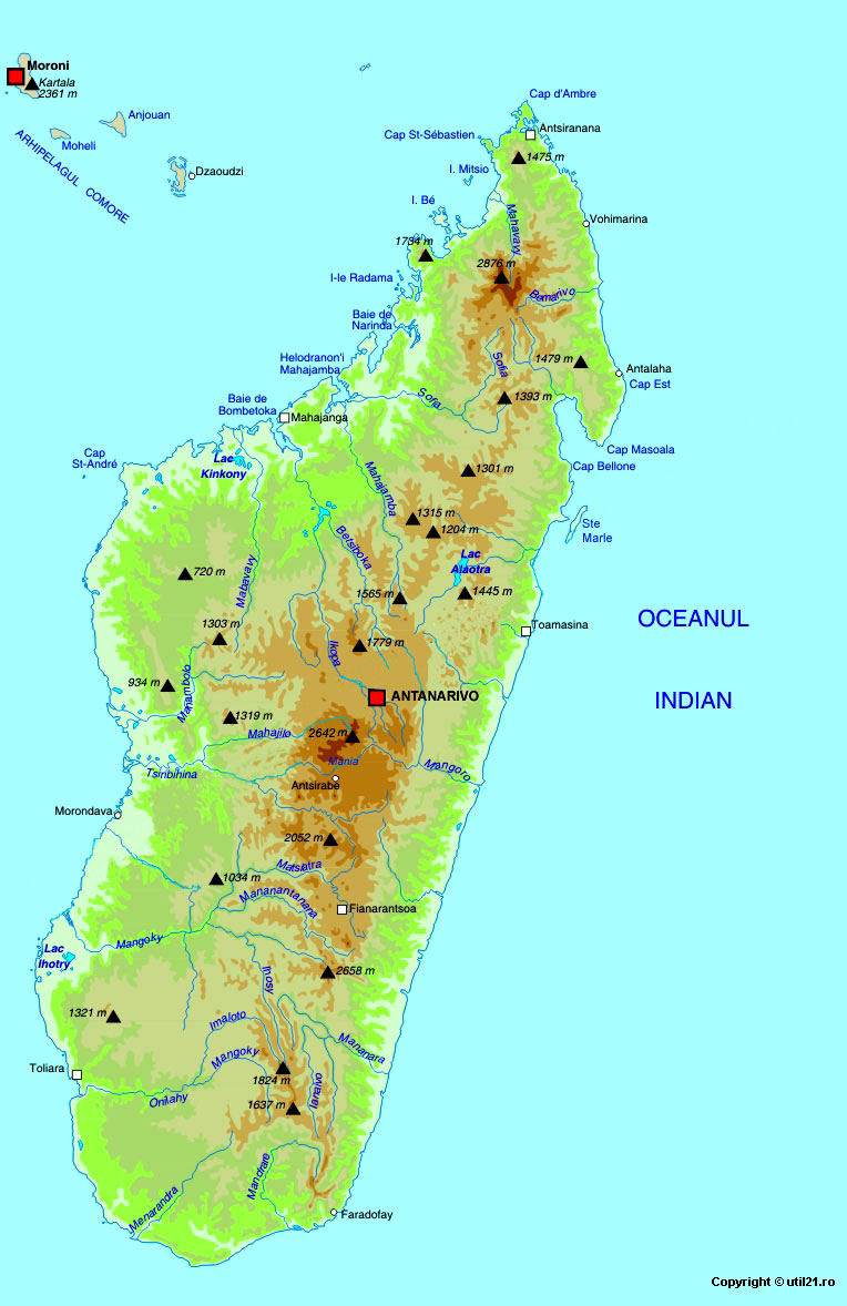 Map of Madagascar maps worl atlas Madagascar map online maps maps of the
