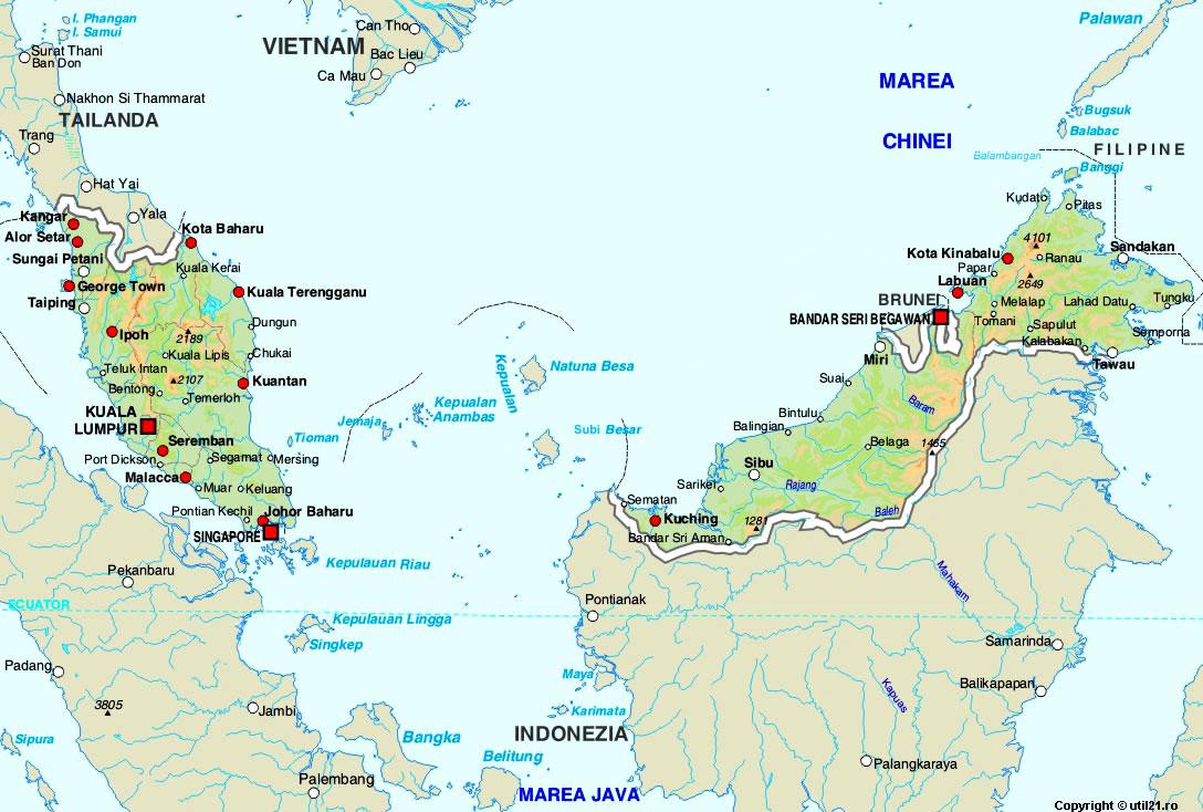 Map of Malaysia maps worl atlas Malaysia map online maps maps