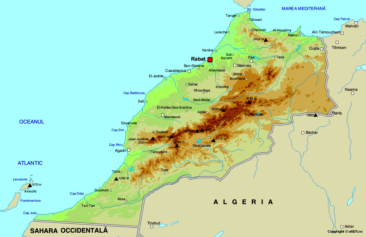 Map of morocco maps worl atlas morocco map online maps maps of map of morocco maps of the world gumiabroncs Gallery
