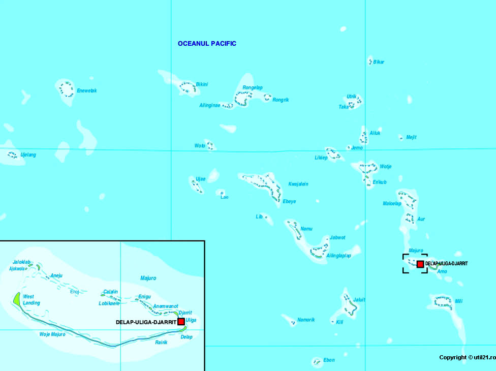 Map of Marshall Islands, maps, worl atlas, Marshall Islands map ...