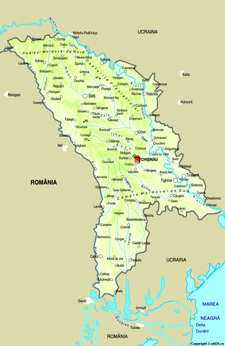 Of Moldova Maps Worl Atlas Moldova Map Online Maps Maps Of - Moldova map