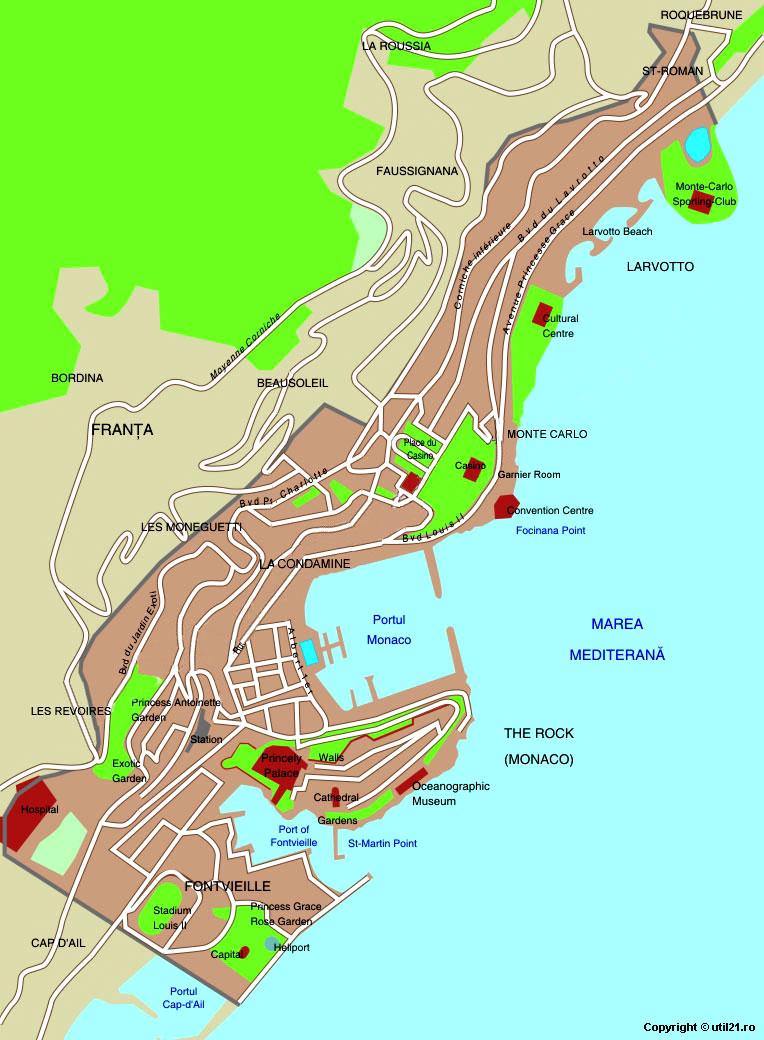 Monaco maps