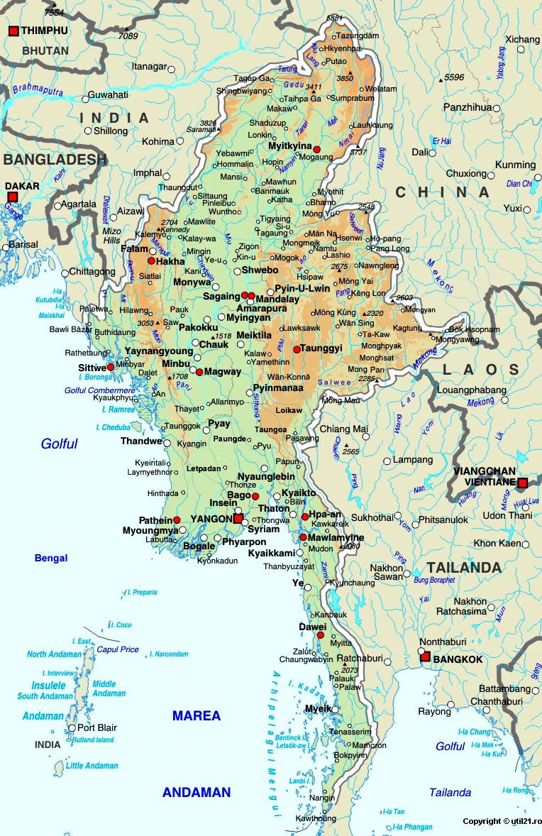 Of myanmar maps worl atlas myanmar map online maps maps of the map of myanmar maps worl atlas myanmar map online maps maps of the world country maps gumiabroncs Gallery