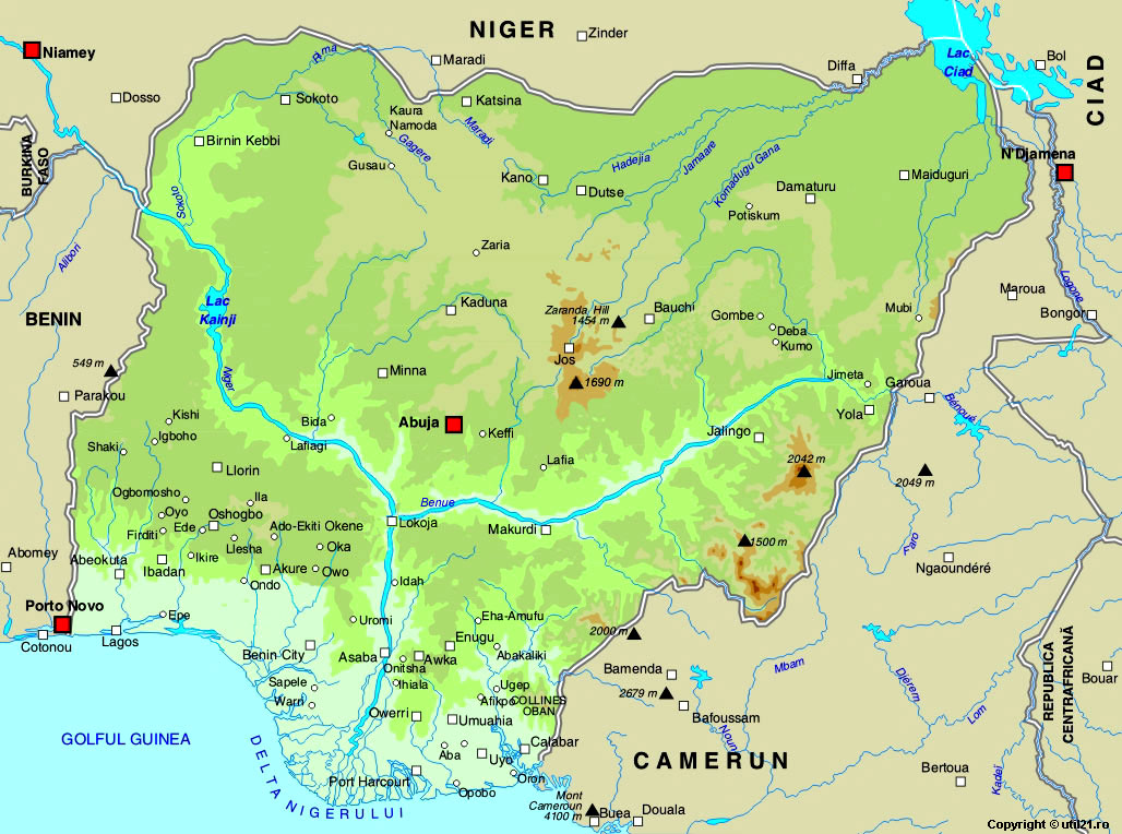 Map of nigeria maps worl atlas nigeria map online maps maps of map of nigeria maps of the world gumiabroncs Image collections