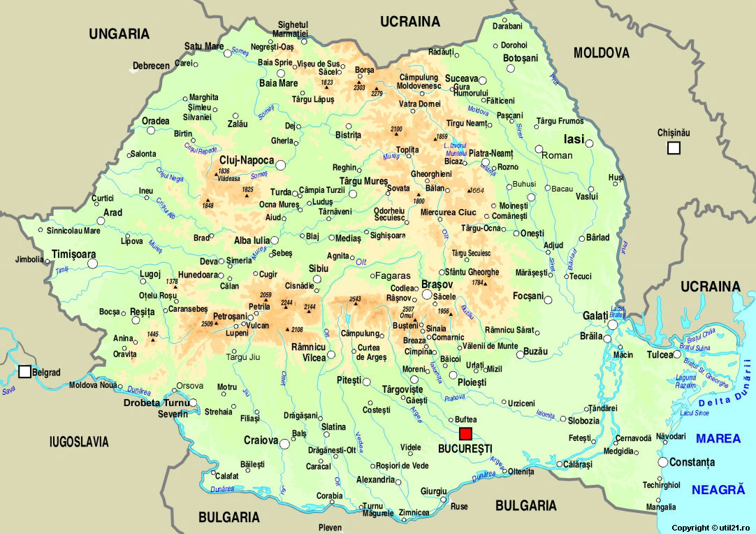 Map of Romania maps worl atlas Romania map online maps maps of