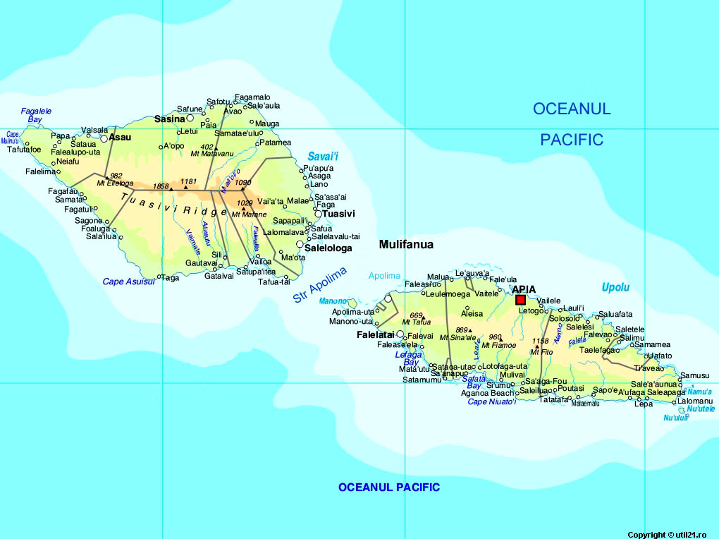 Samoa Geography Map