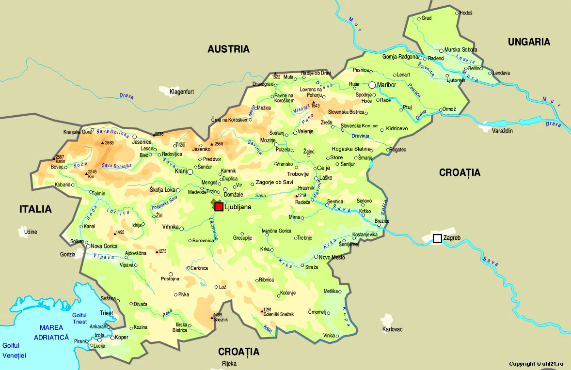 Maps Online Maps Map Of Slovenia