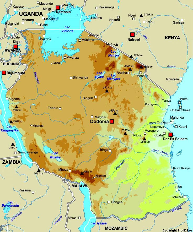 Map of tanzania maps worl atlas tanzania map online maps maps map of tanzania maps of the world gumiabroncs Image collections