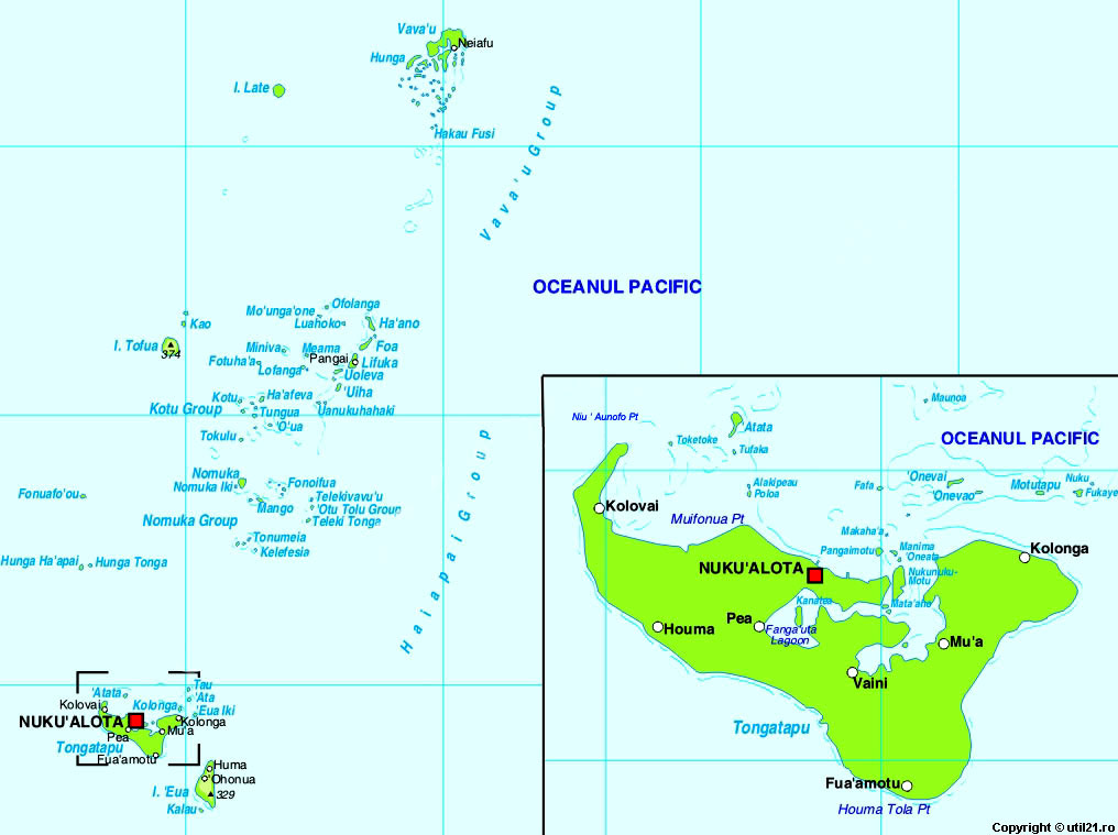 Map Of Tonga Maps Worl Atlas Tonga Map Online Maps Maps Of - Tonga map