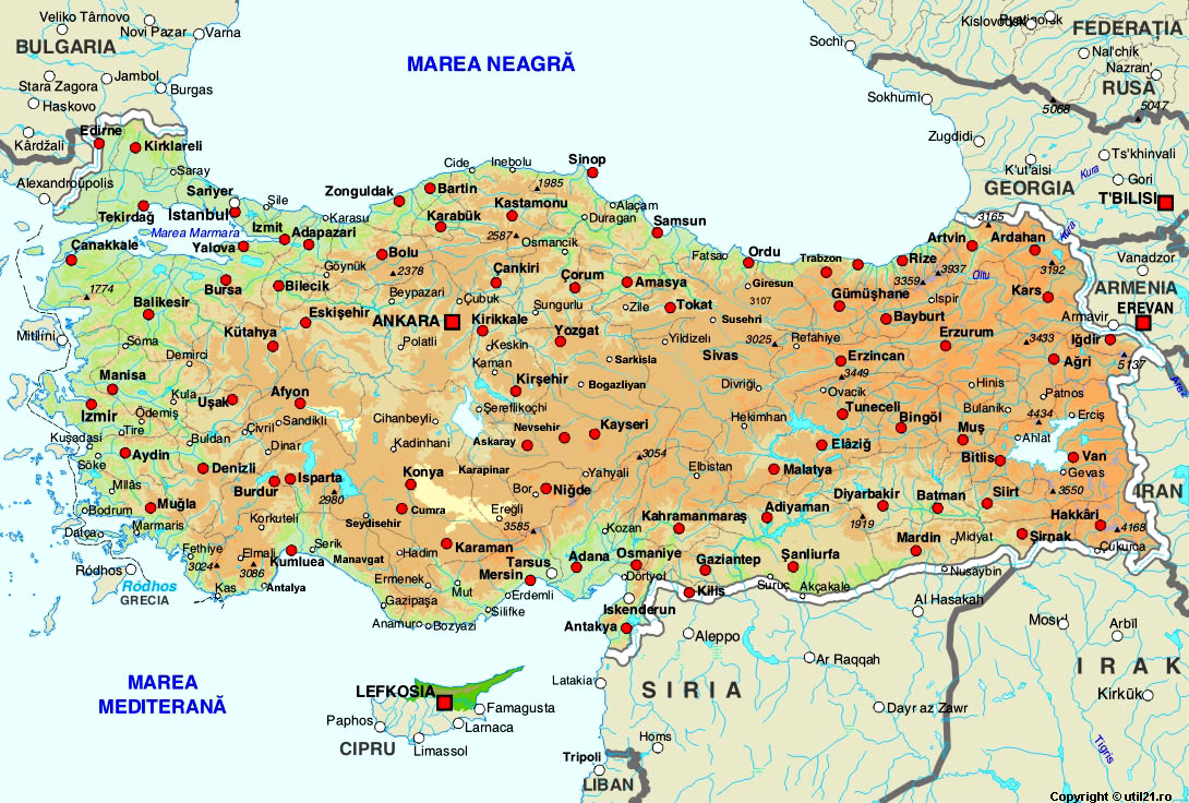 Of Turkey Maps Worl Atlas Turkey Map Online Maps Maps Of The - Turkey map