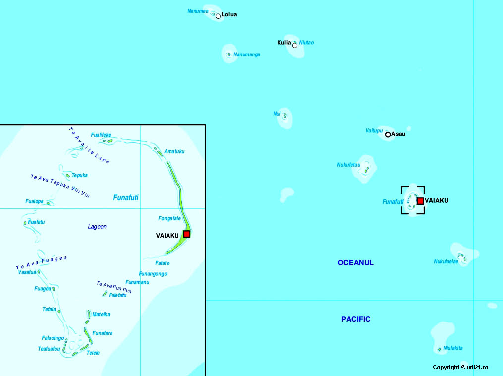 Map Of Tuvalu Maps Worl Atlas Tuvalu Map Online Maps Maps Of - Tuvalu map