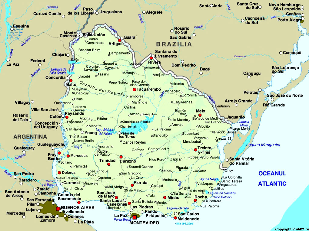 Maps Online Maps Map Of Uruguay