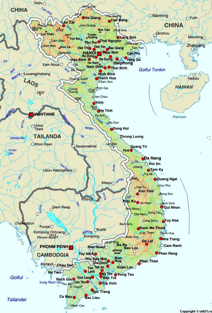 Map of Vietnam, maps, worl atlas, Vietnam map, online maps, maps of ...