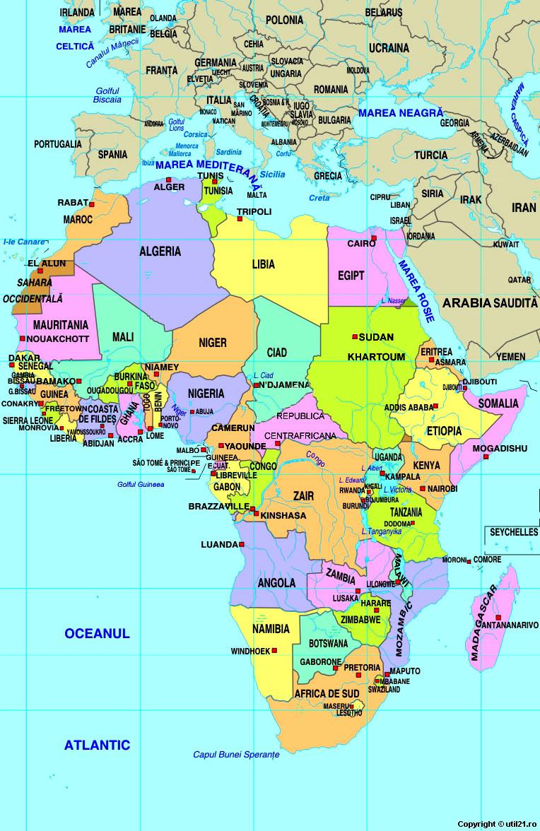 Harta Africa Drapel Africa Statistica Africa Harti Statele