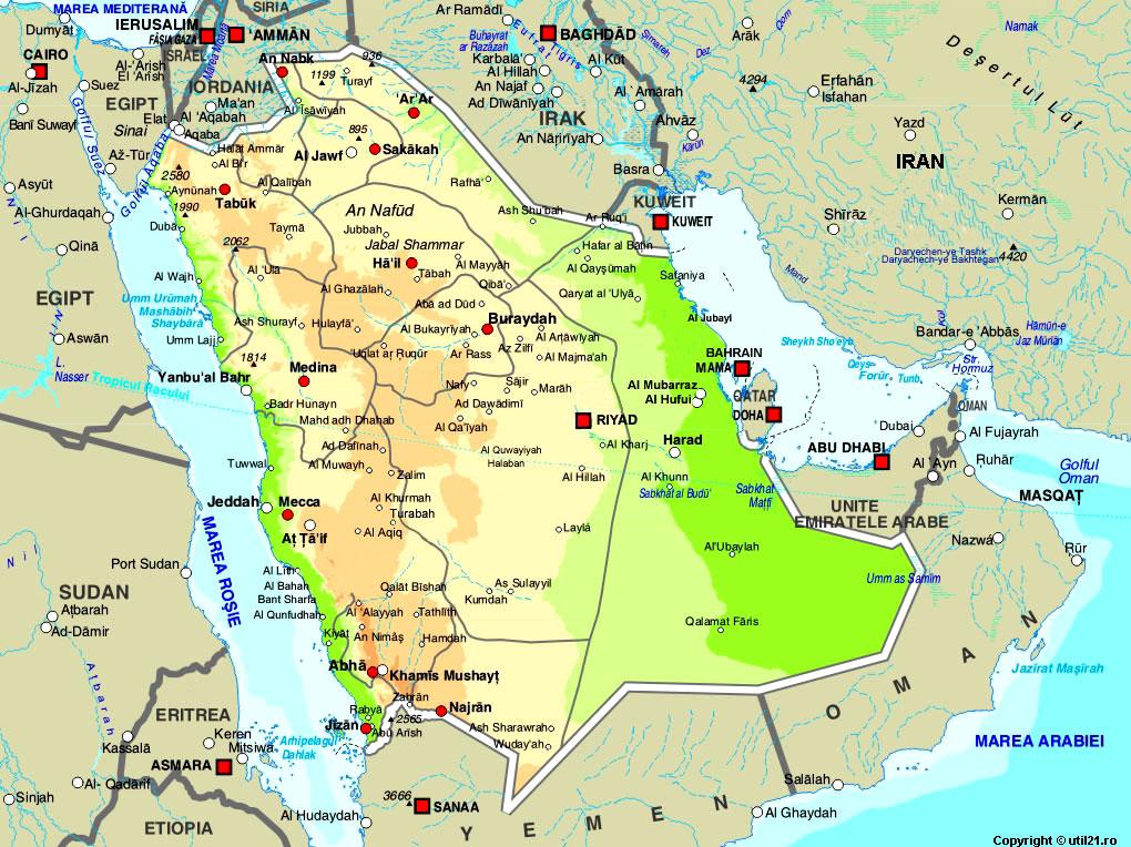 Arabia Saud 237 En El Mapa Fuente Http Www Util21 Ro Util21 Poze Harti Arabia Saudita Jpg