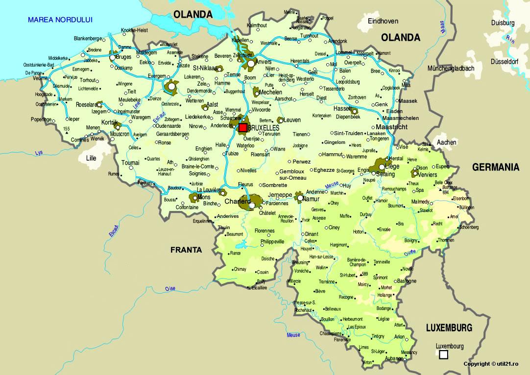 Harta Belgia Drapel Belgia Statistica Belgia Harti Statele