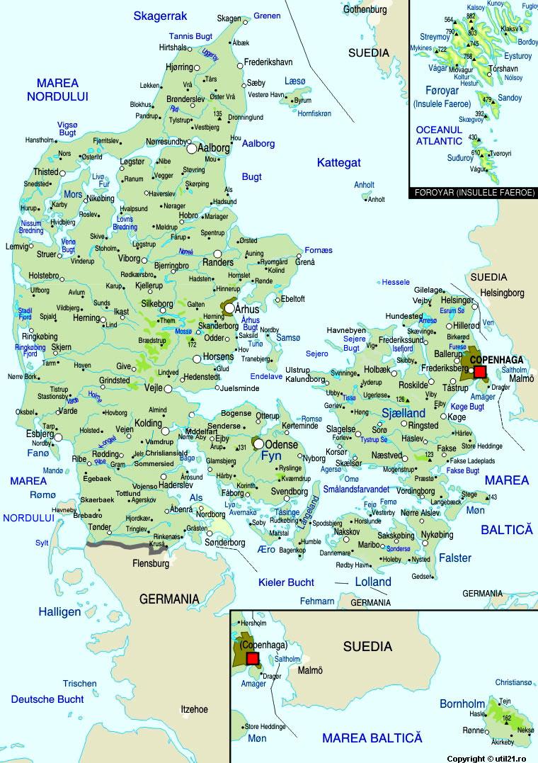 Harta Danemarca Drapel Danemarca Statistica Danemarca Harti
