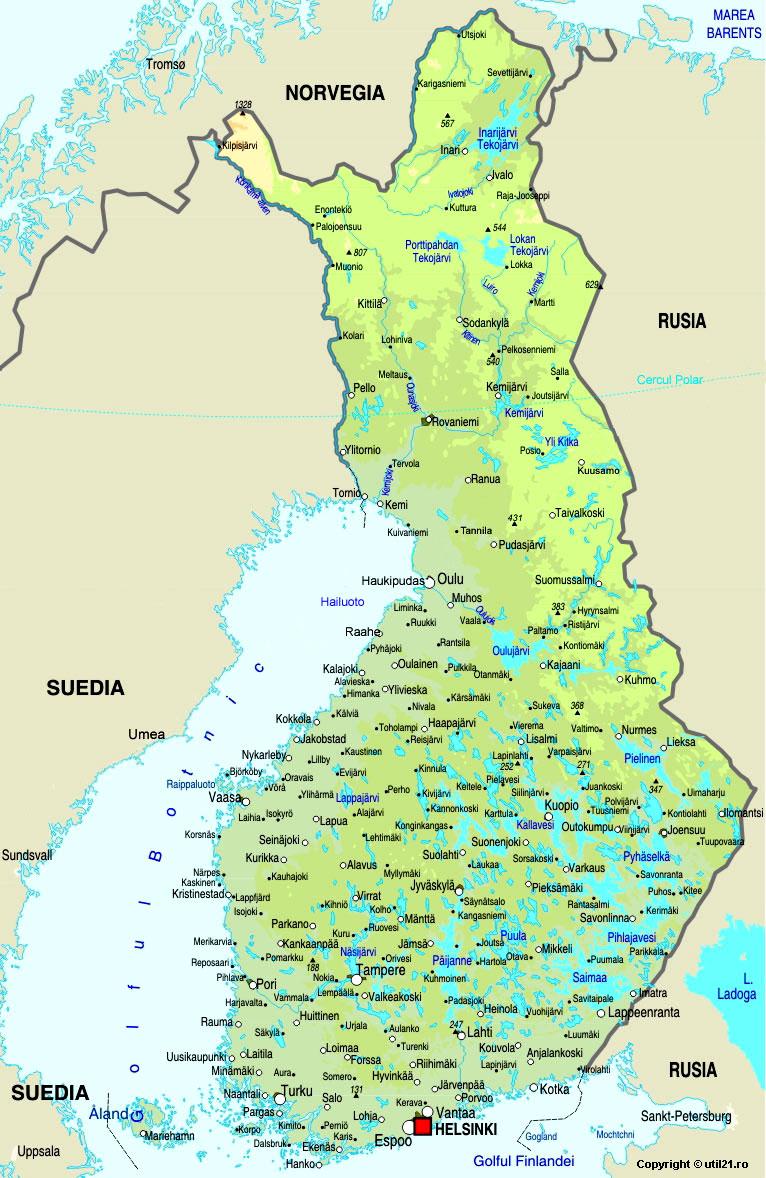 Harta Finlanda Drapel Finlanda Statistica Finlanda Harti