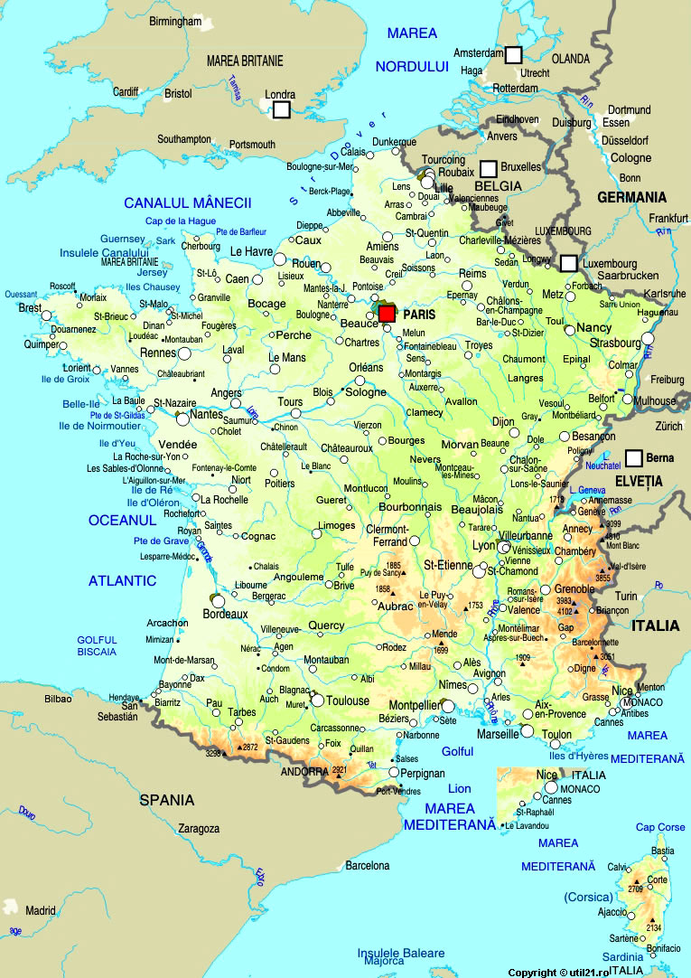 Harta Franta Drapel Franta Statistica Franta Harti Statele